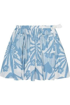 Caramel Norton printed cotton skirt