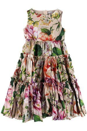 Dolce & Gabbana Kjoler - Kjole - Blooming - Støvet Rosa m. Blomster
