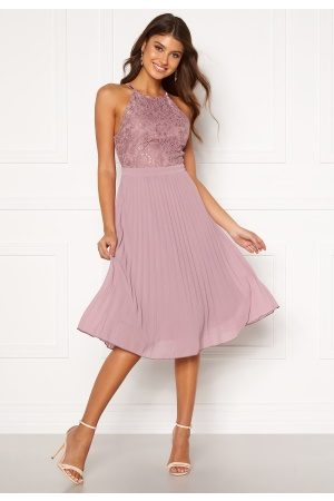 Moments New York Kvinder Midikjoler - Casia Pleated Dress Old rose 34