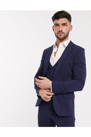 ASOS Marineblå super skinny suit jakke med fire-vejs stræk
