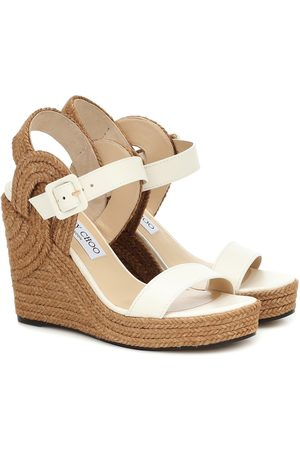 Jimmy Choo Delphi 100 espadrille wedge sandals