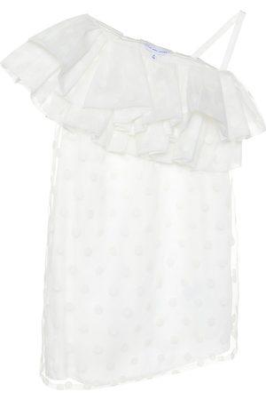 Marc Jacobs Off-shoulder flocked organza dress