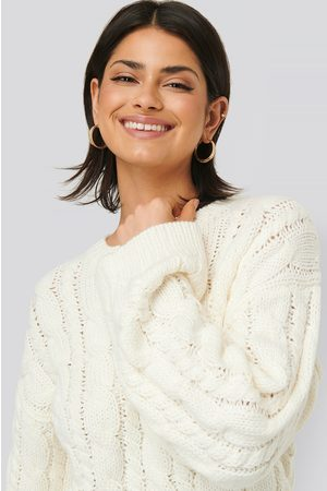 NA-KD Cable Knitted Round Neck Sweater