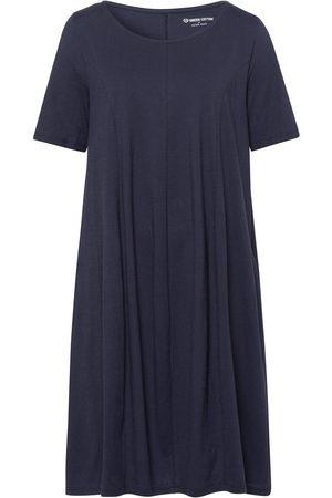 Green Cotton Jerseykjole korte ærmer i 100% bomuld Fra blå