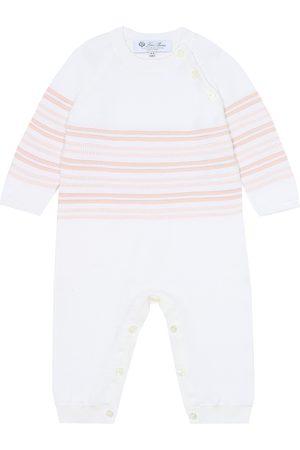 Loro Piana Baby striped cotton onesie