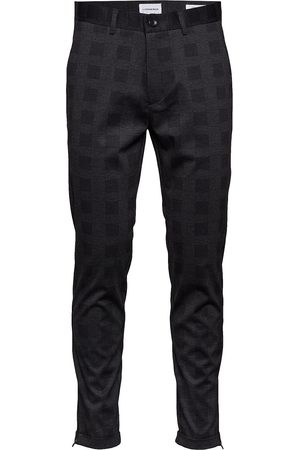 Lindbergh Cropped Pant - Knitted Checked Casual Bukser