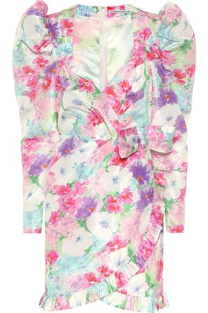 Alessandra Rich Floral silk minidress