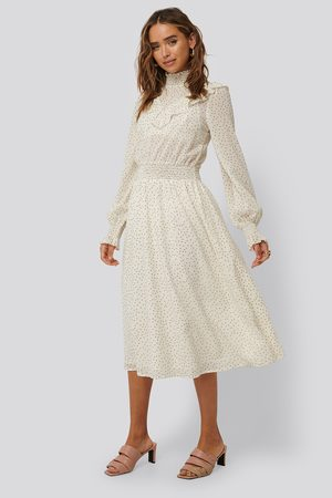 NA-KD Dotted Frill Detail Dress