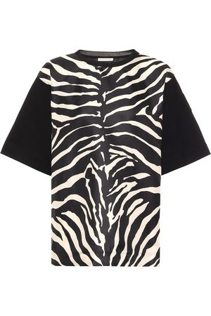 Moncler Zebra-print silk and cotton T-shirt
