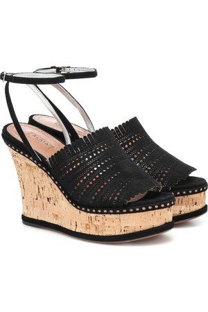Alaïa Suede wedge sandals