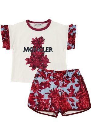 Moncler Kortærmede - Sæt - T-shirt/Shorts - Completo - /ØLyseblå m. Bloms