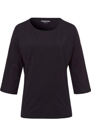 Green Cotton Bluse 3/4-ærmer i 100% bomuld Fra