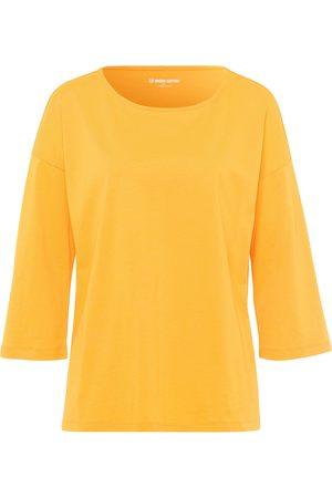 Green Cotton Bluse 3/4-ærmer i 100% bomuld Fra gul