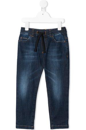 Dolce & Gabbana Jeans med lige pasform og løbesnor i taljen
