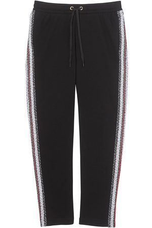 Burberry Monogram stripe panelled track pants