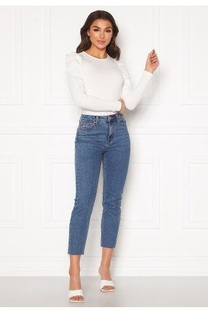 Only Emily Life HW Raw Ankle Dark Blue Denim 26/34