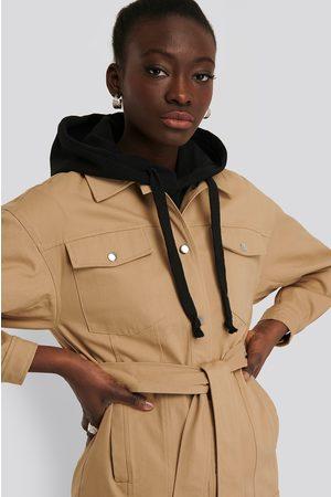 NA-KD Cotton Belted Jacket