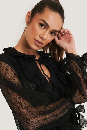 Trendyol Lace Sleeve Blouse