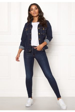 Happy Holly Kvinder Cowboyjakker - Skyler denim jacket Dark denim 36