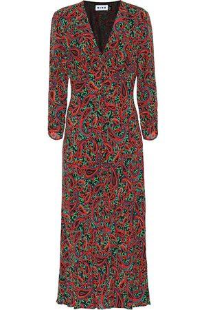 RIXO London Katie printed crêpe midi dress