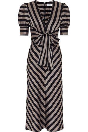 Rebecca Vallance Nautique striped midi dress