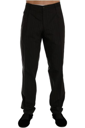 Dolce & Gabbana Striped Cotton Dress Formal Pants