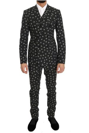 Dolce & Gabbana Skull Print Slim Fit 3 Piece Suit