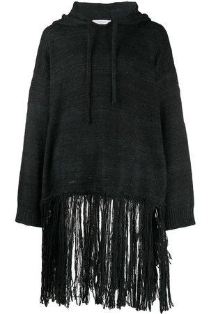 VALENTINO Fringed hooded jumper