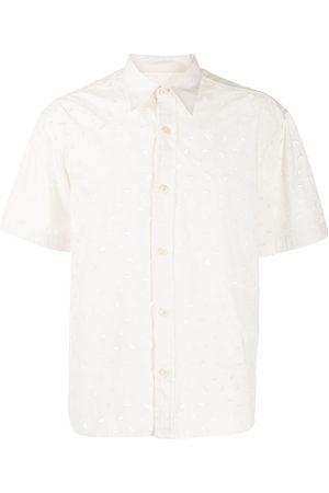 Ami Mænd Kortærmede - Kortærmet skjorte med broderi