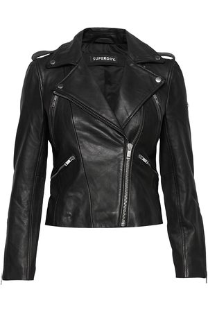 Superdry Classic Leather Biker Læderjakke Skindjakke