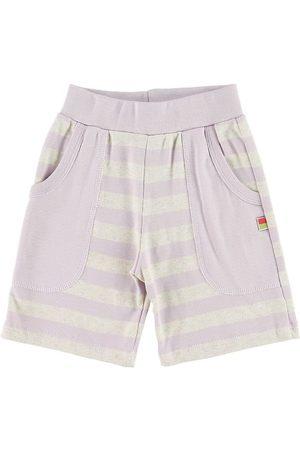 Katvig Shorts - Shorts - Gråmeleret/Lavendelstribet