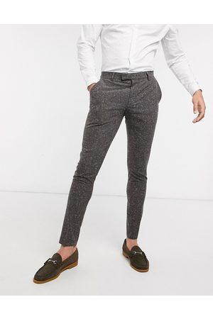 ASOS Wedding - Mørkegrå super skinny-habitbukser i nistret tekstur