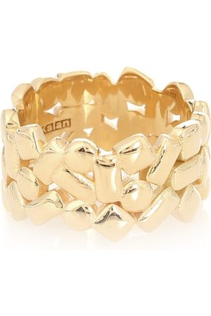 Suzanne Kalan Mosaic Eternity 18kt gold ring