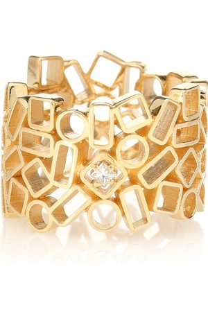 Suzanne Kalan Mosaic Eternity 18kt yellow gold and diamond ring