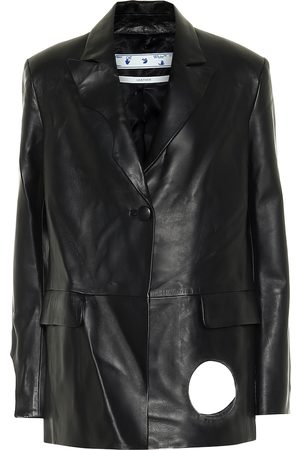 OFF-WHITE Cut-out leather jacket