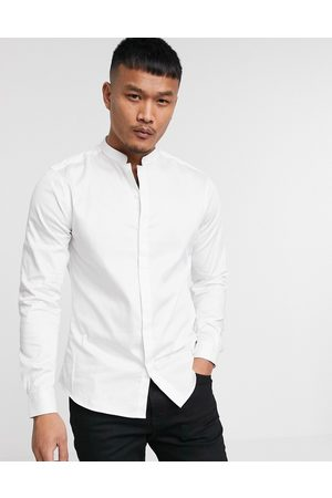 ASOS Premium - Slim Fit - Satin-skjorte med mandarin-krave i
