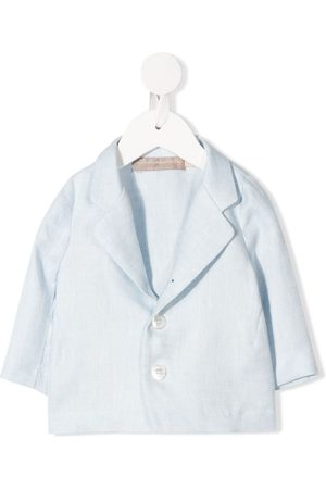 LA STUPENDERIA Single-breasted linen blazer