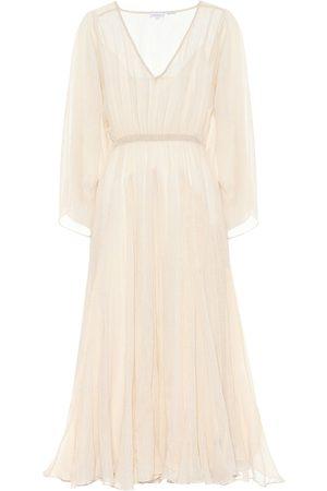Rhode Emily metallic cotton maxi dress