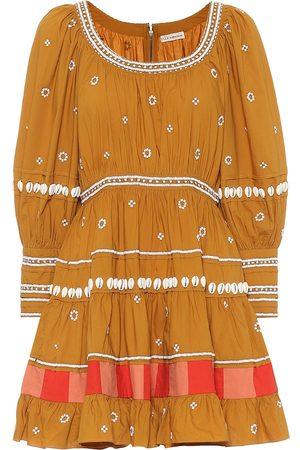 ULLA JOHNSON Adama cotton-poplin minidress