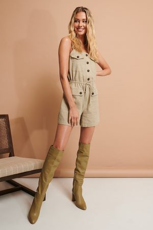 NA-KD Buttoned Playsuit