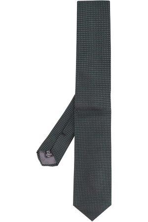 Gianfranco Ferré Mænd Slips - Tekstureret slips med firkantet tryk fra 1990'erne