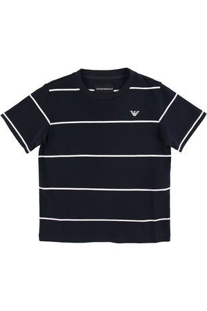 Emporio Armani Kortærmede - T-shirt - Navy m. Striber