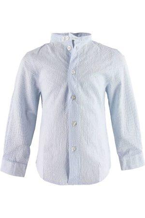 Emporio Armani Skjorte - Blå/Hvidstribet