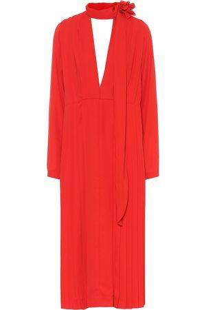 Victoria Beckham Kvinder Midikjoler - Pleated chiffon dress