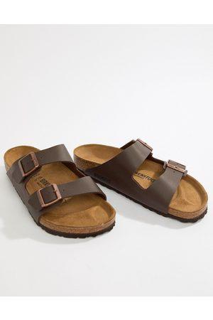 Birkenstock Arizona - Mørkebrune birko-flor sandaler