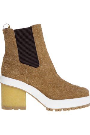Hogan Suede ankel støvle med 65 mm hæl