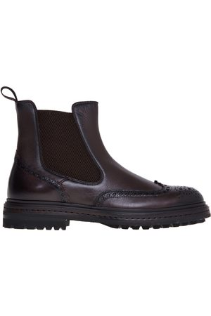 santoni Chelsea boot in tumbled leather