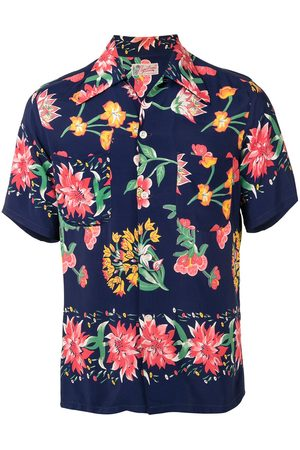Fake Alpha Vintage Kortærmet skjorte med blomstertryk fra 1950'erne