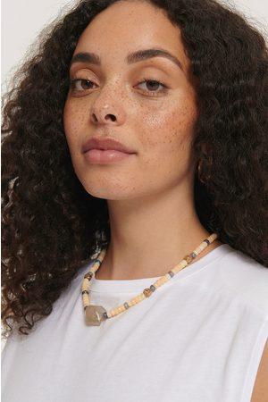 NA-KD Kvinder Halskæder - Colored Bead Big Stone Necklace