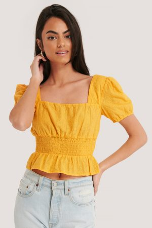 NA-KD Square Neck Cropped Blouse
